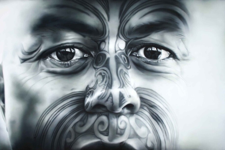 Contemporary Maori portrait painting Turumakina